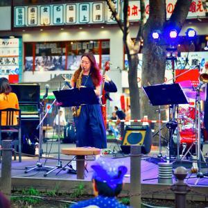 <写真>定禅寺ストリートフェスティバル(2) ~岡田銀蔵「すずめバンド」~