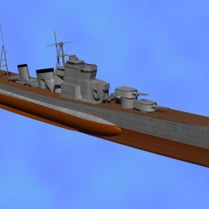 <CGモデリング>大日本帝国海軍 重巡洋艦「青葉」(制作過程③)