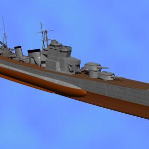 <CGモデリング>大日本帝国海軍 重巡洋艦「青葉」(制作過程④)