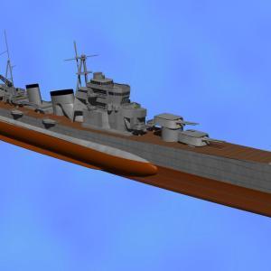<CGモデリング>大日本帝国海軍 重巡洋艦「青葉」(制作過程⑤)