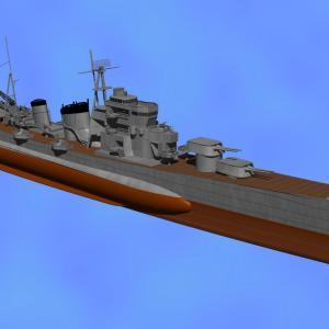 <CGモデリング>大日本帝国海軍 重巡洋艦「青葉」(制作過程⑦)