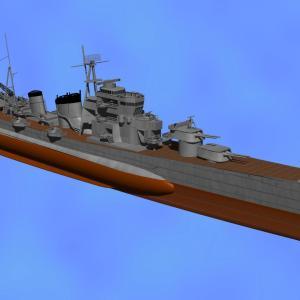 <CGモデリング>大日本帝国海軍 重巡洋艦「青葉」(制作過程⑧)