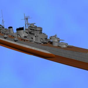<CGモデリング>大日本帝国海軍 重巡洋艦「青葉」(制作過程⑨)
