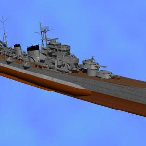 <CGモデリング>完成間近! 旧海軍 重巡「青葉」(制作過程⑩)