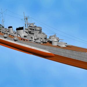 <CGモデリング>大日本帝国海軍 重巡洋艦「青葉」(完成)