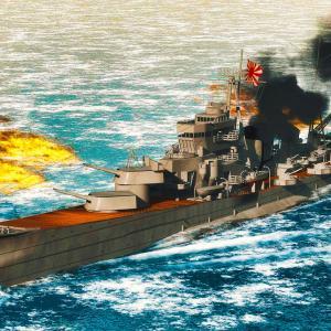 <CGモデリング>大日本帝国海軍 重巡洋艦「青葉」~主砲斉射~