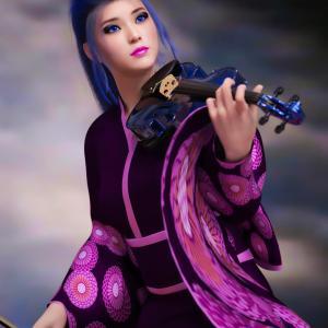 <CG>ロック・ヴァイオリニスト「美沙貴」 ~ロックを奏でるヴァイオリニストが登場!~