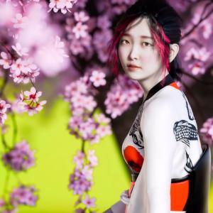 <CG>ポートレート「宇佐美6」 ~ 満開の桜の木の下で ~