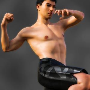 <CG>「筋トレ肉体」 ~筋肉は加齢で落ちない、高齢アスリートが増えている~