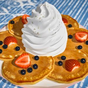 <CG>ドラマ「しろときいろ」のパンケーキ ~エッグスンシングスのパンケーキ~
