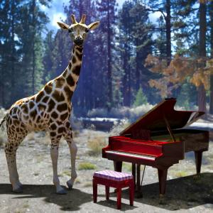 <CG>「夢」 ~何と無く「キリンとピアノ」なんです~