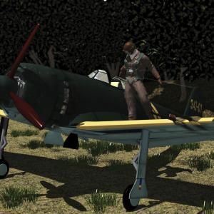 <CG>モデリング : 局地戦闘機『紫電改』 ~映画「太平洋の翼」から~
