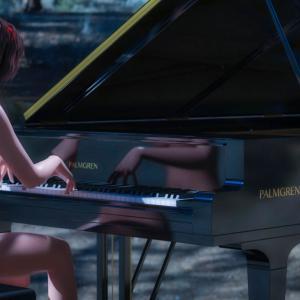 <CG>「裸のピアニスト」 ~~森で奏でる裸のピアニスト・メイリン~