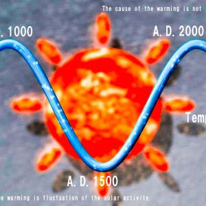 <CG>地球温暖化の本当の原因 ~太陽活動の周期的変動が原因でCO2の増加ではない~