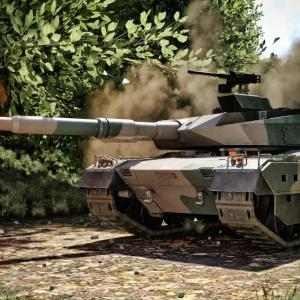 """<CG>""""咆哮""""10式戦車 ~Daz Studio 4.14 で描画~"""