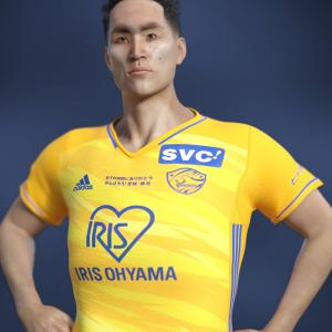 <CG>ベガルタ仙台2021ユニフォーム(モデル:蜂須賀孝治選手)