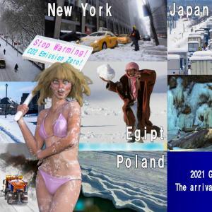 """<CG>2021年の""""世界的大寒波"""" ~やがて地球は「小氷期」に突入する~"""