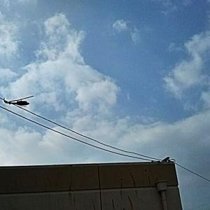 自衛隊ヘリの病院ポート着陸訓練