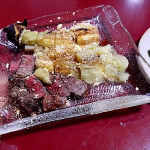 肉三昧3 焼きナスとサイコロステーキのコンビ ギャラクシースマホに替えたけど