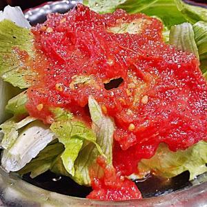レタスのトマトドレッシングサラダ