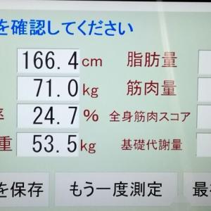 50日振りの市民体育館(術後1年6ヶ月+29日)