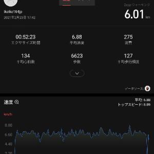 時速7kmウォーキング(術後1年11ヶ月+5日)