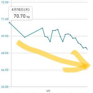 【コロナ太り】やせ筋トレの効果はある?1ヶ月前より2.5kg減った話