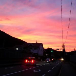 印象的な夜明け
