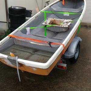FRPボートの補修 その1