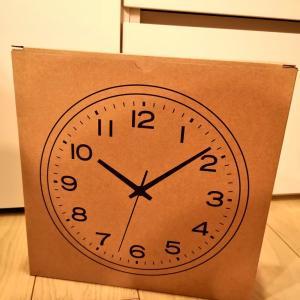 寝室の壁掛け時計購入