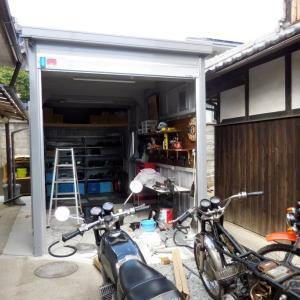 yamato garage 電気工事中(^ー^)