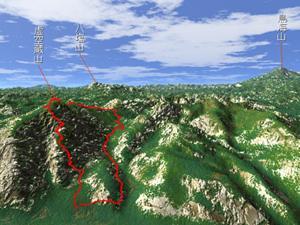 5月 虚空蔵山358mから鳥海山の雄姿!