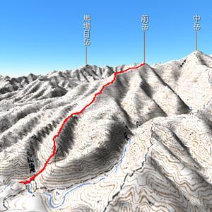 4月 木曽石コース 金山滝から太平山前岳774mへ