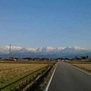 絶景の「立山連峰」