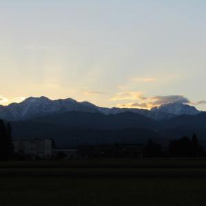 朝焼けの立山連峰