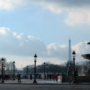 チュイルリー公園からコンコルド広場