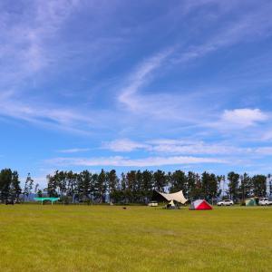 【渚園キャンプ場】広大な芝生と青空、夕日、夜空を同時に見れる!浜松の格安キャンプ場!