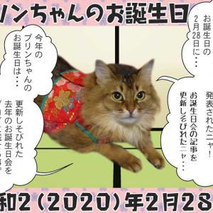 #ブログ更新「2月28日 プリンちゃんの去年のお誕生日会」