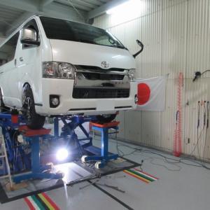 ハイエース 4WD アライメント調整