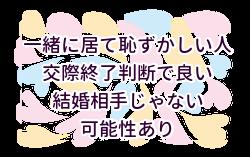 (2)一緒に居るの恥ずかしい→交際終了判断で良いと思う理由、それは結婚相手じゃないと思う理由