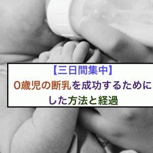 【三日間集中】0歳児の断乳を成功するためにした方法と経過