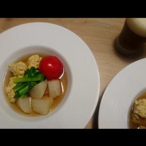 鶏団子のスープを作りました