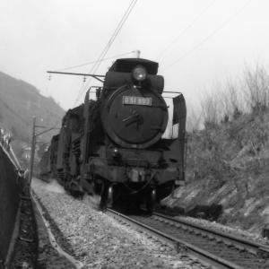 昭和47年蒸気機関車D51893 中央西線の寝覚ノ床近くで