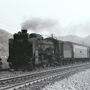 昭和47年蒸気機関車D51147 大沼駅発車を撮影するも尻切れに