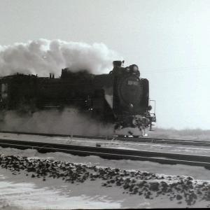 昭和47年蒸気機関車D51183 室蘭本線苫小牧付近で撮影