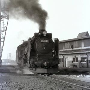 昭和47年蒸気機関車D51346 五稜郭機関区で入れ換え中