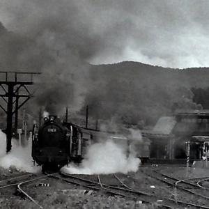 昭和48年蒸気機関車C623 小沢駅発車を撮影しました