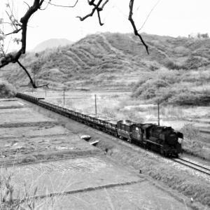 昭和48年蒸気機関車9600 田川線油須原の有名撮影地