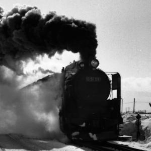 昭和49年蒸気機関車D5159 古山駅近くで爆煙の機関車を