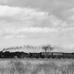 昭和49年蒸気機関車D51 勇払原野を行くギースル機関車